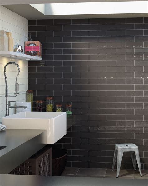 bulevar ripple antique anthracite wall tiles bathroom tiles direct