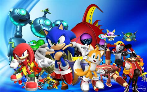 Sonic Background Sonic Wallpapers Wallpaper Cave