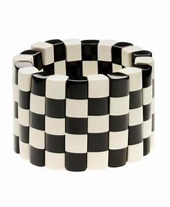 Damier Noir Et Blanc : bracelet damier noir et blanc marion godart paulie and me ~ Dallasstarsshop.com Idées de Décoration