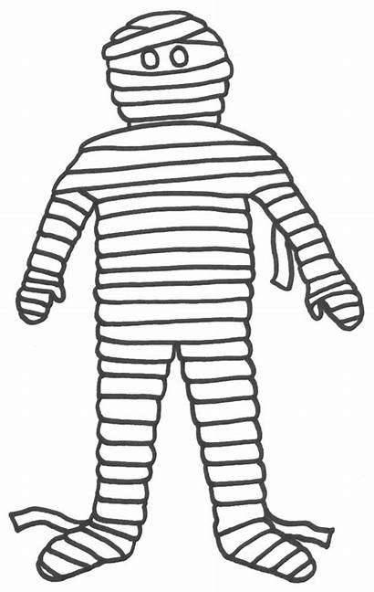 Mummy Egyptian Cartoon Coloring Clipart Pages Clip
