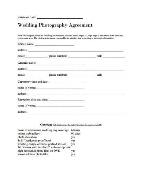 sample wedding contract  documents   word