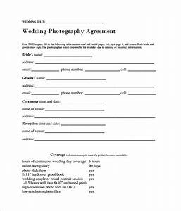 sample wedding contract 14 documents in pdf word With wedding photography contract template word
