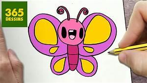 Dessin Facile Papillon : comment dessiner papillon kawaii tape par tape dessins kawaii facile youtube ~ Melissatoandfro.com Idées de Décoration