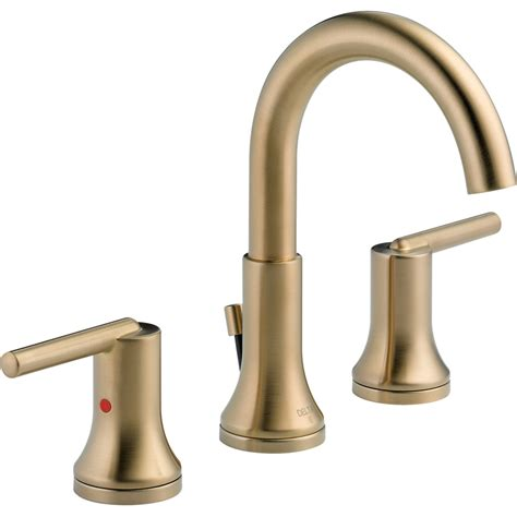 delta trinsic bathroom faucet chagne bronze shop delta trinsic chagne bronze 2 handle widespread