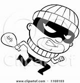 Clipart Running Burglar Cartoon Coloring Looking Cash Money Carrying Bank Robbers Thief Sack Robbery Robber Cory Thoman Vector Animated Royalty sketch template