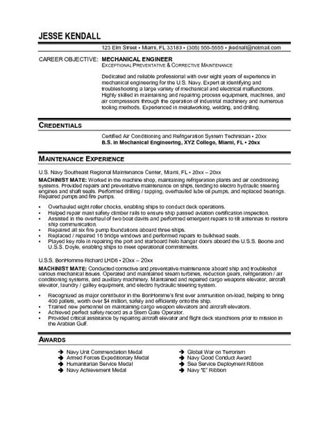 Resume Career Objective For Mechanical Engineer by Doc 672828 Sle Resume Objectives For Engineers Bizdoska