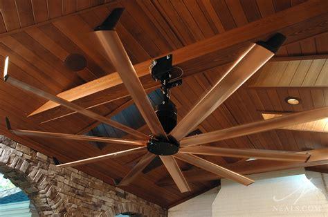 big outdoor ceiling fans stone pavilion
