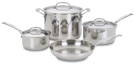 cookware cuisinart piece steel non basic stick pots pans pan stainless pot cooking sets types aluminum chef amazon grade affordable