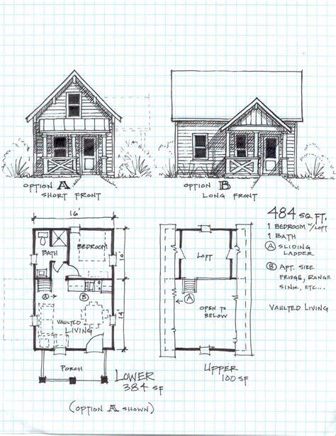 small house plans with loft bedroom cabin plans with loft free cottage bunkie pinterest 20867   b455d57fff8e5c84e1c40ed2de8d8464