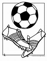 Soccer Coloring Ball Pages Print Cup sketch template