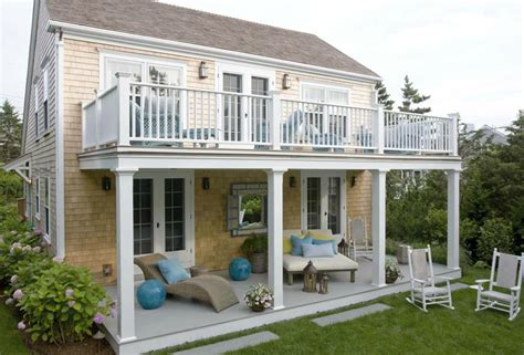 house plans with balcony second floor balcony cottage deck patio