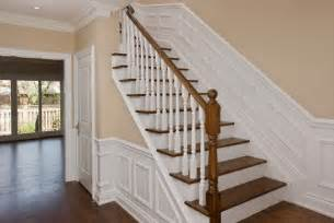 5x8 Carpet by New Stairway With Wainscoting Traditional Hall