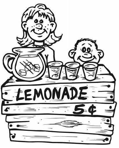 Coloring Lemonade Pages Stand Summer Printable Grade