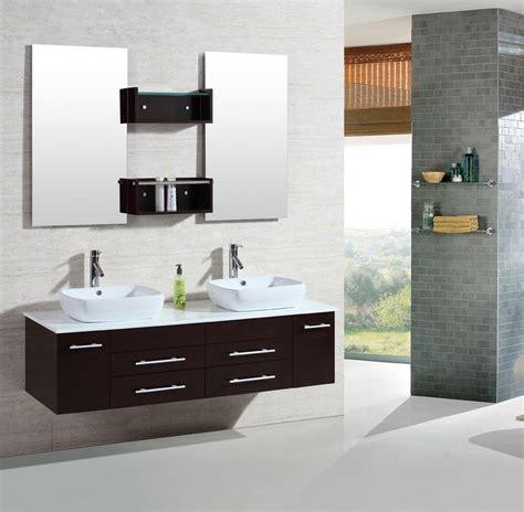 modern bathroom double vanities cabinet floating