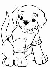Coloring Pages Puppy Dog Easy Cute Cartoon Printable Bone Puppies Getcolorings Winn Dixie Because Animal Dogs Puppys Colorings Coloringfolder Loeydae sketch template
