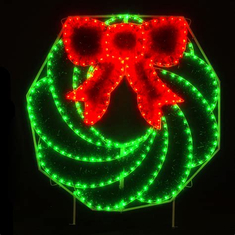 lowes lighted christmas decorations shop holiday lighting specialists 8 ft wreath outdoor