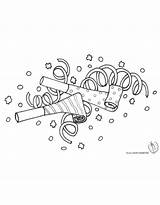 Confetti Coloring Pages sketch template