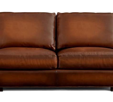 turner roll arm leather sofa pottery barn