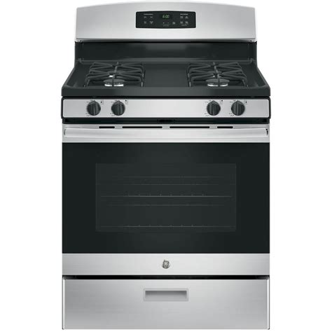 home depot standing ls ge 30 in free standing gas range in stainless steel