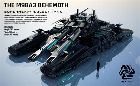 edf siege m98a3 behemoth superheavy railgun tank updated by