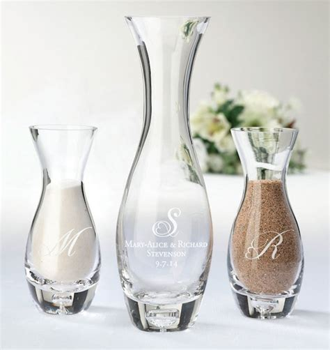 Unity Sand Vases With Lids by Hourglass Sand Ceremony Vase Set