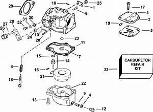 Johnson Carburetor Parts For 2003 50hp J50plstd Outboard Motor