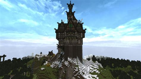 skyrim inspired castle minecraft project