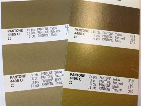 gold color number gold metallic pantone colour for print graphic design