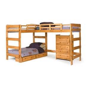 woodcrest heartland l shape loft bed with loft