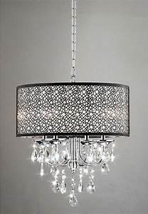 Overstock bedroom ceiling lights : Indoor light chrome crystal metal bubble shade