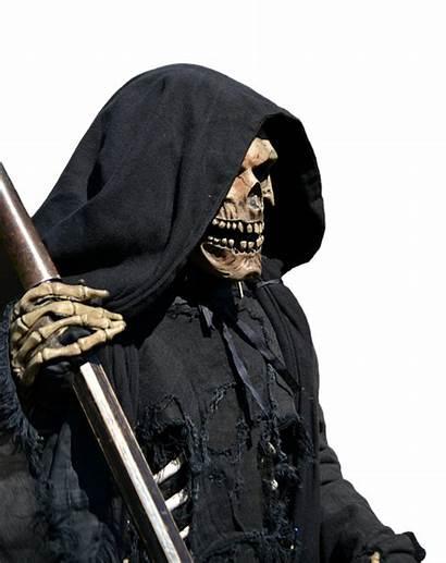 Death Reaper Grim Scary Skeleton Background Halloween