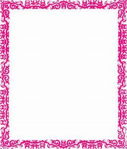 pink border png | Decorative Pink Border clip art ...