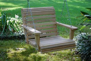 3 Ft Porch Swing by 3 Ft Single Bench Porch Swing Cypress Outdoor Deck Patio