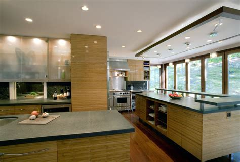 glass kitchen cabinet doors Kitchen Modern with