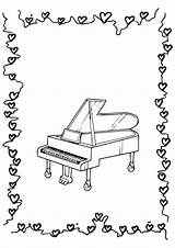 Piano Coloring Pages Printable Books Categories Similar Peppa Pig sketch template