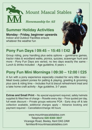 pony fun days summer holidays