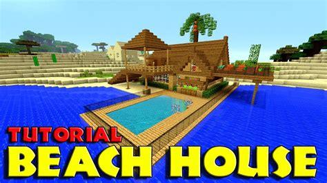 minecraft   build  beach house tutorial simple