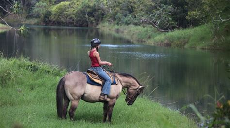 horseback kauai riding silver falls ranch its hawaii visit vacation