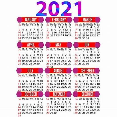 Calendar 2021 Printable Yearly Calendario Months Psd