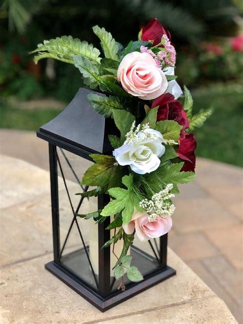Wedding Reception Lantern Decor Pew Flowers Lantern Swag