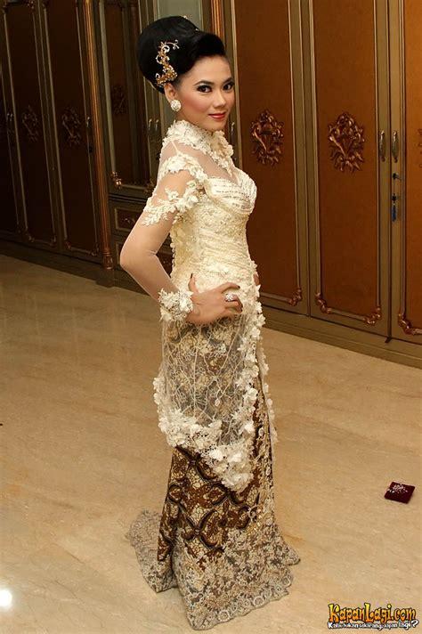 Foto Intip Detil Baju Pernikahan Purie Mahadewi