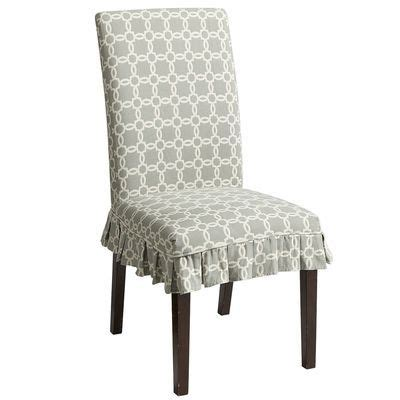 pier1 slipcover blue geometric dining rooms chair slipcovers chairs