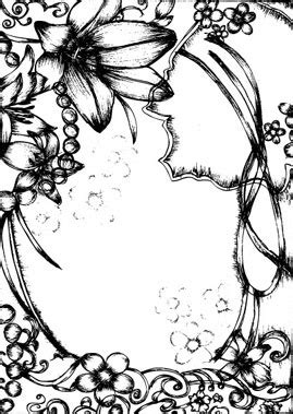 drawing style flower border clip art  vector
