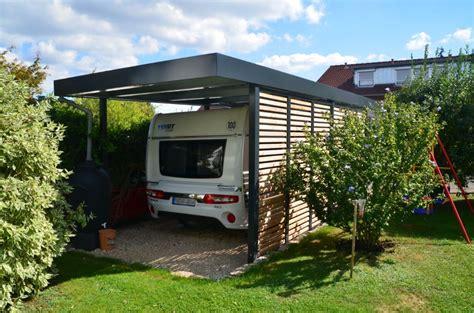 Myport Wohnmobil Carport In Anthrazit Und Wandelement