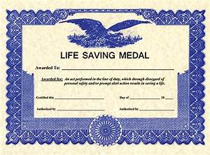somes the life saving certificate With life saving award certificate template