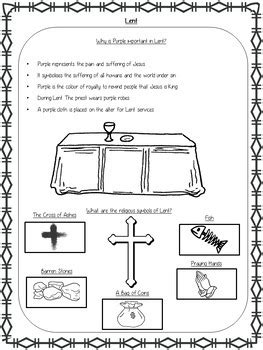 lent and ash wednesday powerpoint and worksheets by the