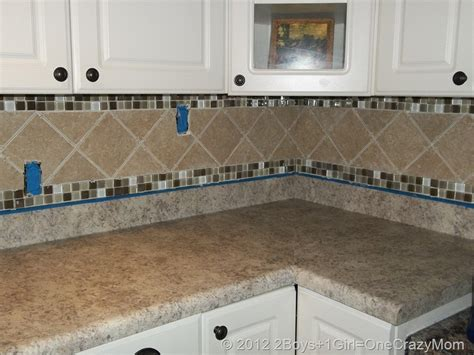 tile borders for kitchen backsplash simple kitchen area with brown ceramic glass border tile backsplash brown granite kitchen