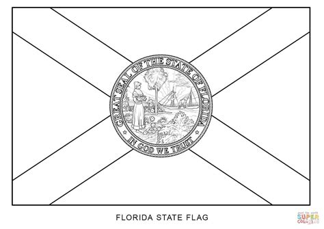 Flag Of Florida Coloring Page Free Printable Coloring Pages