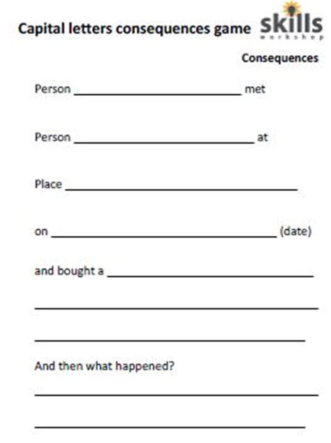 capital letters consequences game skills workshop