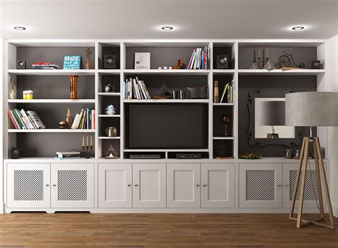 Tv Bookcases by Fitted Bookcase Around Tv Unit Chelsea